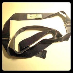 NINA RICCI Velvet Belt Sash ribbon waist tie O/S